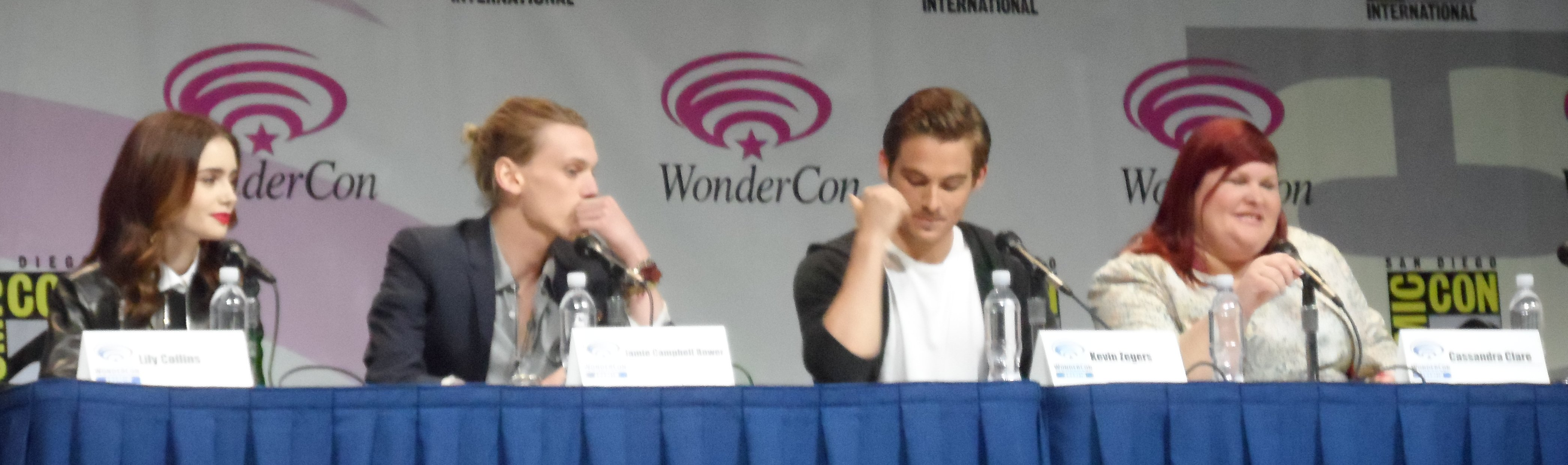 Wondercon, Lily Collins, Jamie Campbell Bower, Kevin Zegers, Cassandra Clare, Mortal Instruments: City of Bones