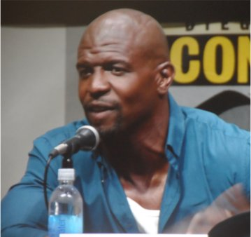 Terry Crews at the Comic Con Sony panel for Cloudy with a Chance of Meatballs 2