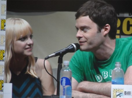 Anna Faris and Bill Hader Cloudy with a Chance of Meatballs 2 Comic Con 2013