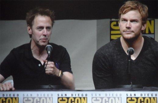 James Gunn and Chris Pratt, Guardians of the Galaxy Comic-Con 2013