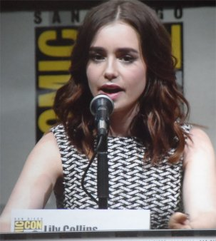 Lilly Collins, Mortal Instruments panel playing Clary Fray Comic Con 2013