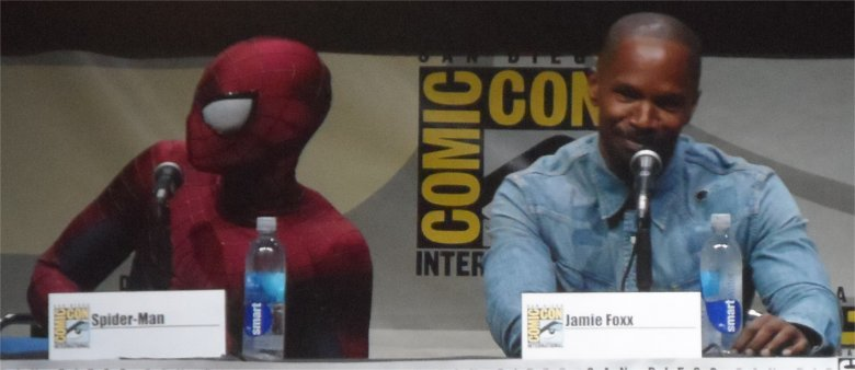 The Amazing Spiderman 2 SPiderman and Jamie Foxx Comic Con 2013