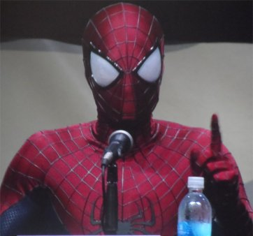 The Amazing Spiderman Panel at Comic Con 2013 featuring Spiderman himself
