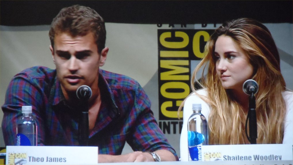 Theo James, Shailene Woodley, Divergent, Comic-Con 2013