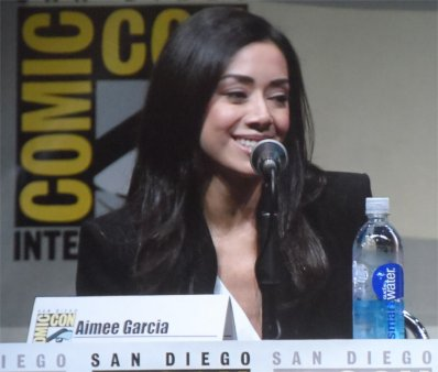aimee garcia as jamie on dexter panel for comic-con 2013