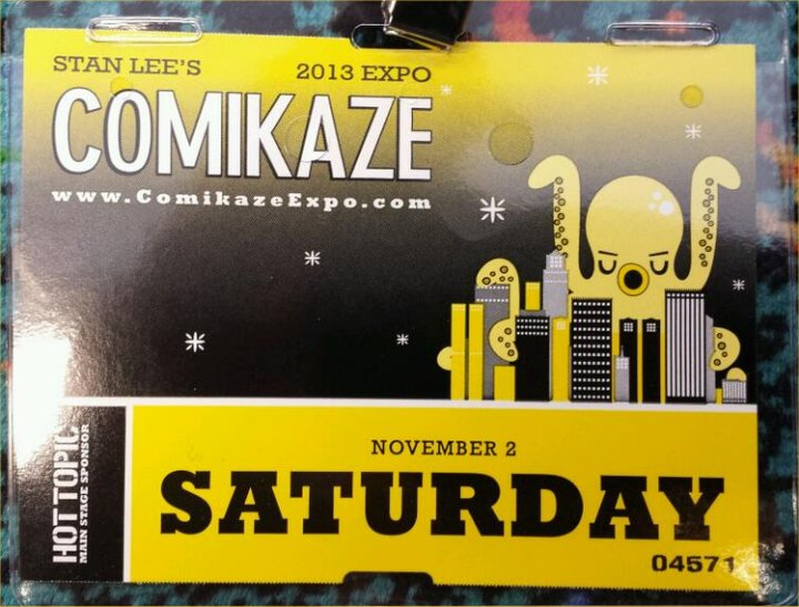 Comikaze, Saturday Badge