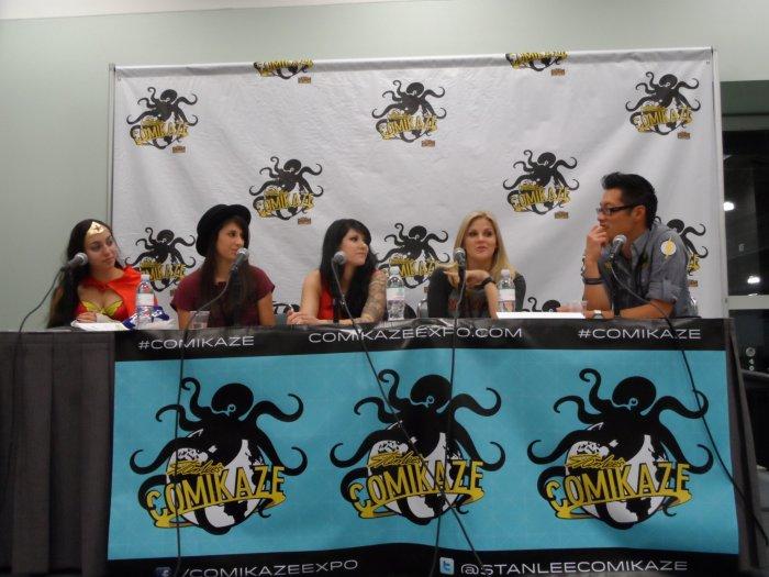 Comikaze, Super-Heroines of Pop Culture, Sarah Rodriguez, Megan Gotch, Reena Leona, Nikki Griffin, Tony Kim