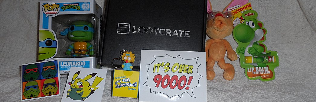 September Loot Crate, Loot Crate, September, Funko Pop, Teenage Mutant Ninja Turtles, TMNT, Ren and Stimpy, Simpsons, Maggie, Yoshi