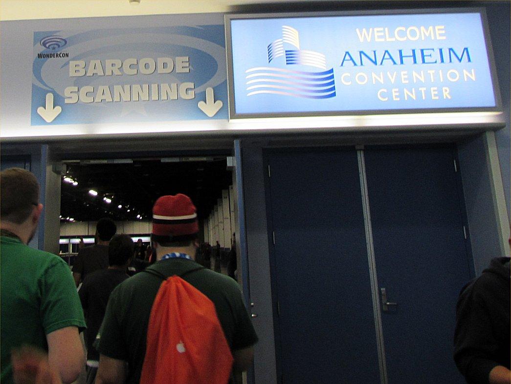 WonderCon barcode scanning