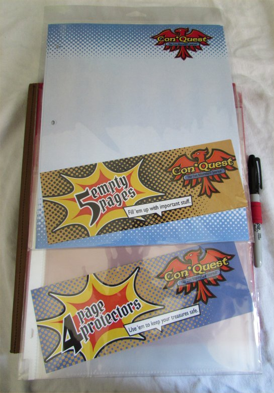 ConQuest Adventure Journal, Extra Pages