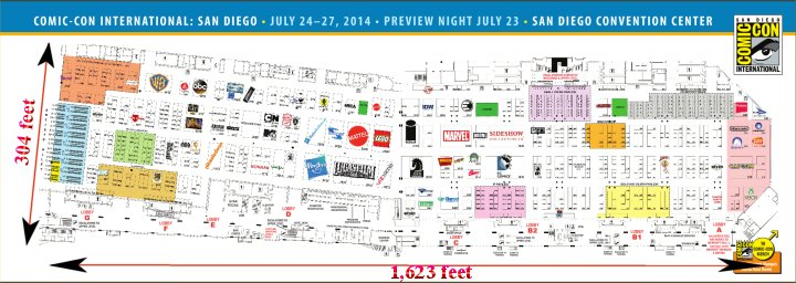 SDCC 2014 Exhibit Hall