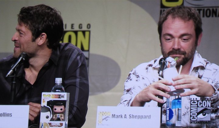 SDCC, SDCC 2014, San Diego Comic-Con, Supernatural, Misha Collins, Mark Sheppard