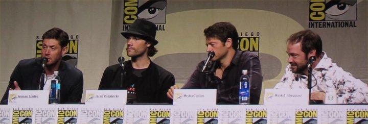 SDCC, SDCC 2014, San Diego Comic-Con, Supernatural, Jensen Ackles, Jared Padalecki, Misha Collins, Mark Sheppard