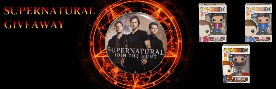 Supernatural Giveaway, Funko Pop Vinyl, Sam, Dean, Charlie, Hot Topic exclusive
