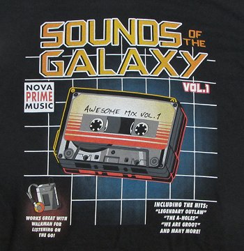 Guardians of the Galaxy giveaway, Sounds of the Galaxy T-shirt