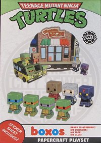 TMNT giveaway, Papercraft Playset