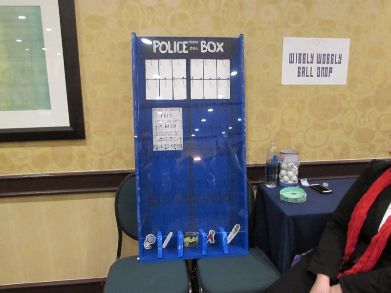 Time Bash at Gallifrey One!  Attendees could play games for raffle tickets for various prizes.