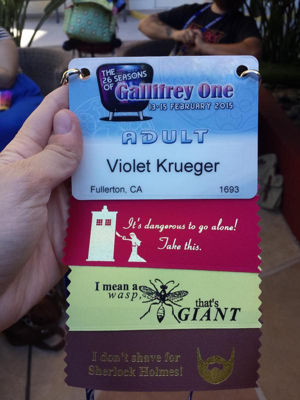 Gallifrey One badge