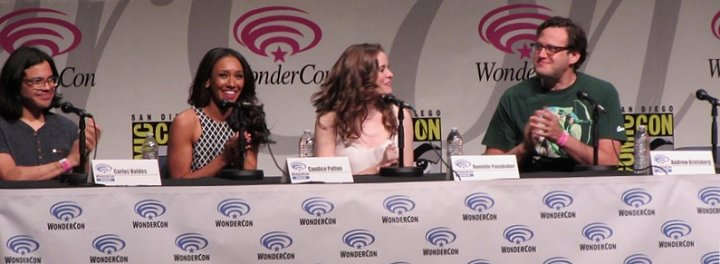 WonderCon Anaheim 2015, The Flash, Carlos Valdes, Candice Patton, Danielle Panabaker, Andrew Kreisberg