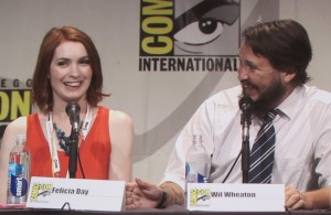 SDCC 2015 Thursday Con Man Panel, Felicia Day, Wil Wheaton