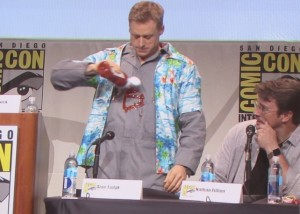 SDCC 2015 Thursday Con Man Panel, Alan Tudyk, Nathan Fillion