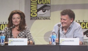 SDCC 2015 Thursday Doctor Who Panel, Michelle Gomez, Steven Moffat