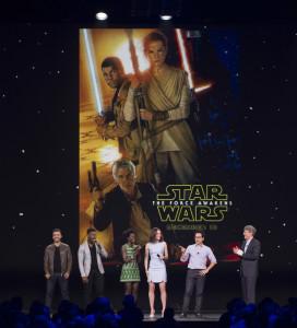 D23 Expo 2015, Star Wars, The Force Awakens, poster, OSCAR ISAAC, JOHN BOYEGA, LUPITA NYONG'O, DAISY RIDLEY, J.J. ABRAMS, ALAN HORN