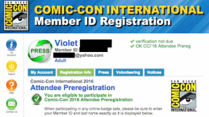 SDCC 2016 Preregistration