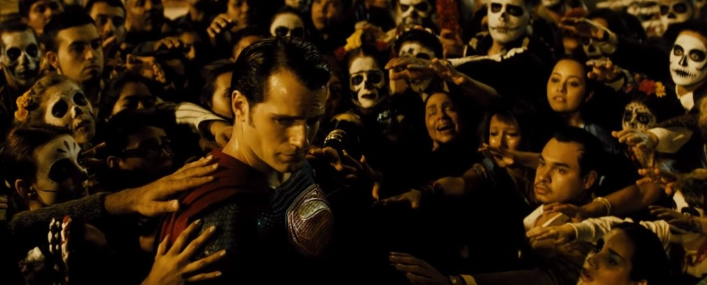 Batman v Superman appearing godlike