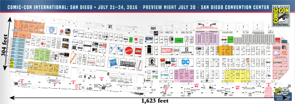 SDCC 2016, Exhibit Hall Map, SDCC Tips, Start getting in shape now