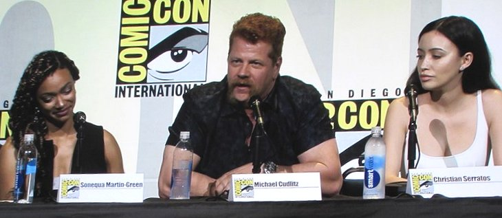 SDCC 2016, The Walking Dead, Sonequa Martin-Green, Michael Cudlitz, Christian Serratos