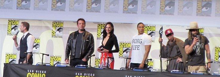 SDCC 2016, Warner Bros, Justice League, Zack Snyder, Ben Affleck, Gal Gadot, Ray Fisher, Ezra Miller, Jason Momoa