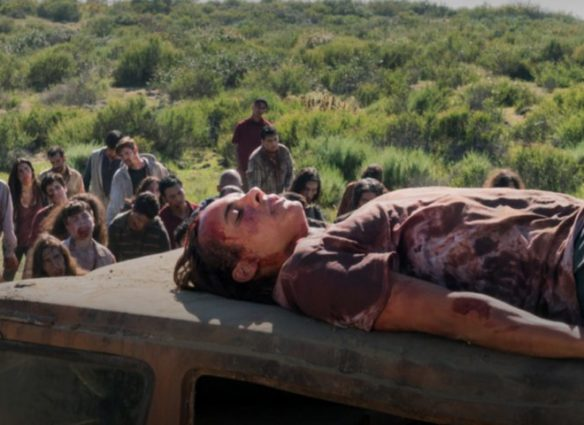 Nick trapped on a car in Fear the Walking Dead
