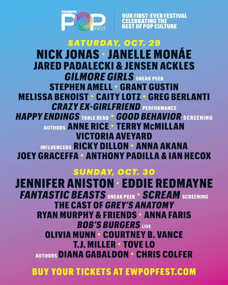 EW PopFest lineup