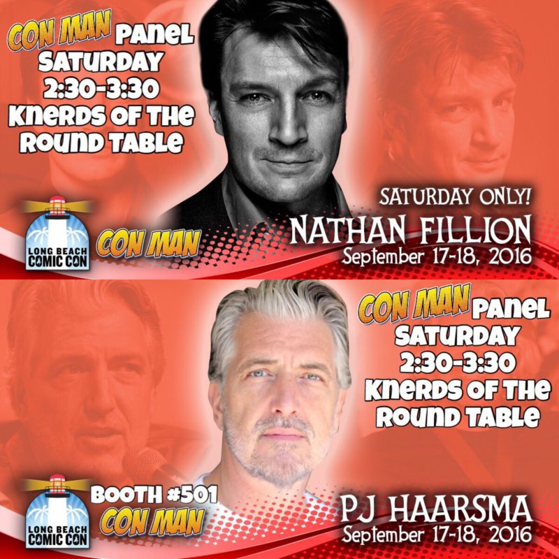 LBCC, Long Beach Comic Con, Con Man, Nathan Fillion, PJ Haarsma