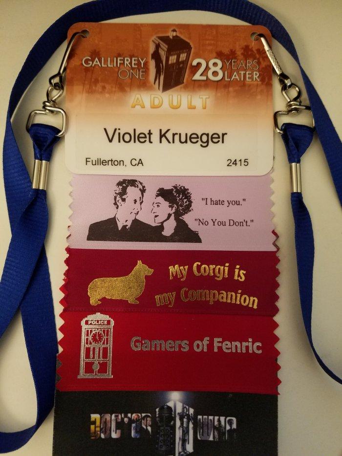 Gallifrey One 2017 badge