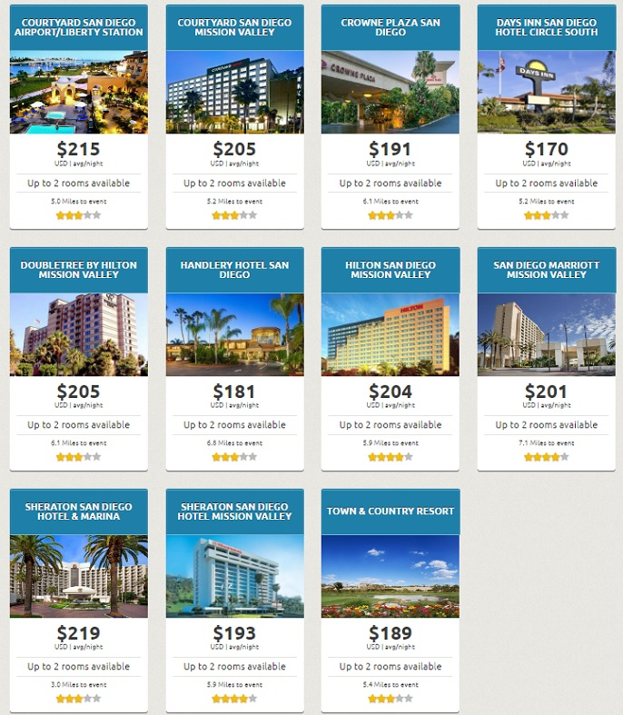 SDCC 2017 Early Bird Hotel Sale