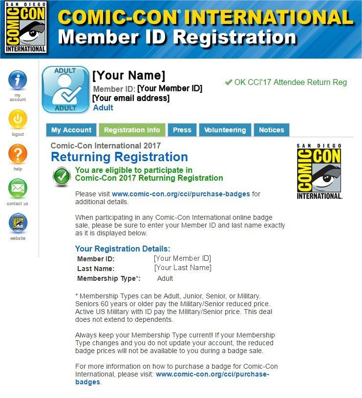 SDCC 2017 Returning Registration