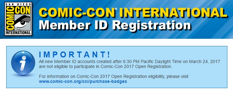 SDCC 2017 Member ID