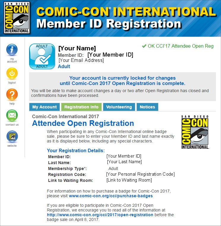 SDCC 2017 Open Registration