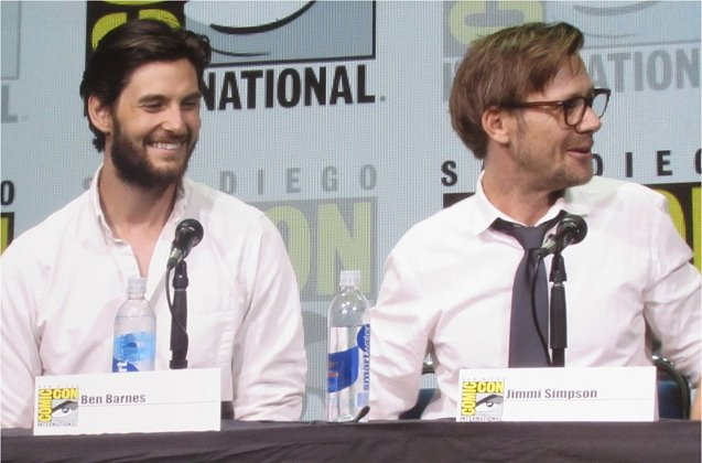 Ben Barnes and Jimmi Simpson at the Westworld panel at SDCC 2017