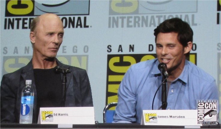 James Marsen and Ed Harris at the Westworld panel at SDCC 2017