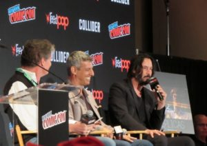 Keanu Reeves talks Replicas at NYCC 2017