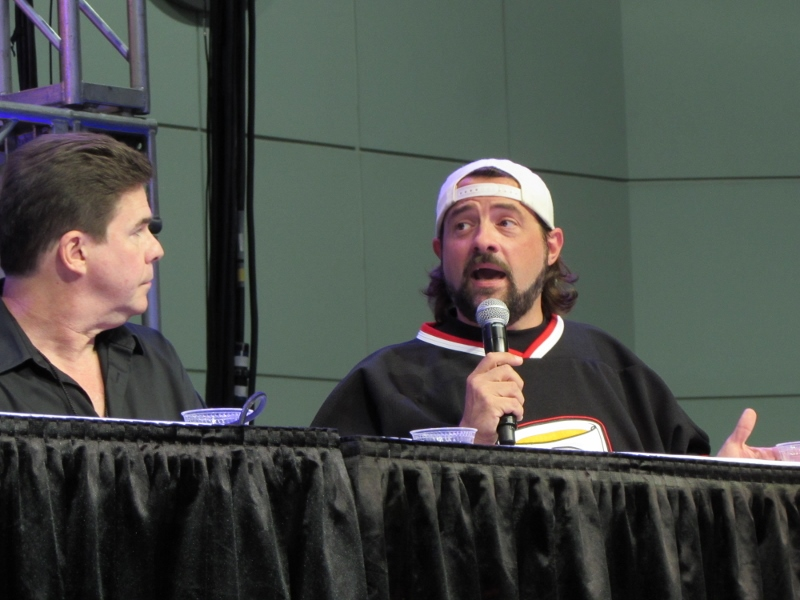 Ralph Garman and Kevin Smith at LA Comic Con 2017