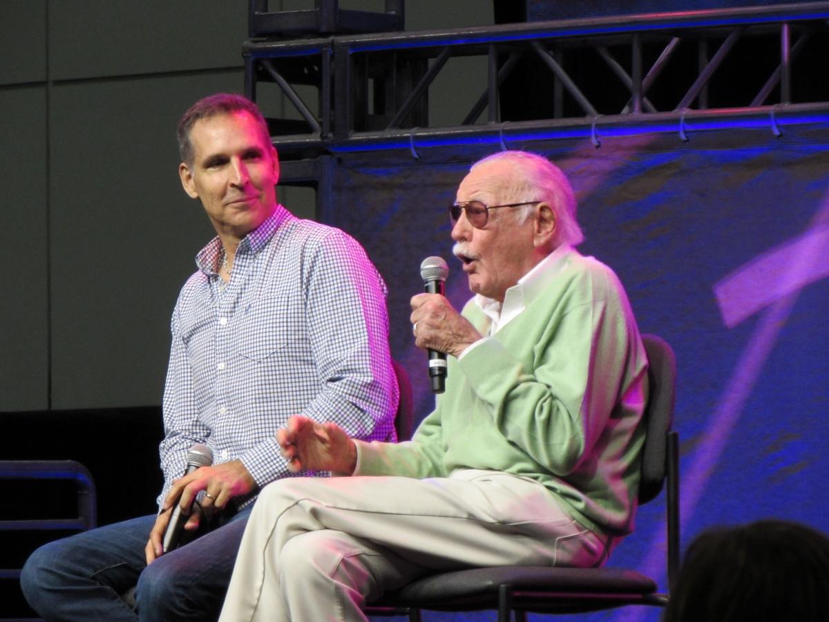 Todd McFarlane and Stan Lee at LA Comic Con 2017