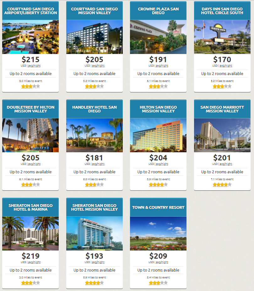 SDCC 2018 Early Bird Hotel Sale