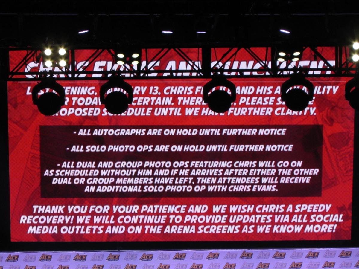 Chris Evans announcement at Ace Comic Con